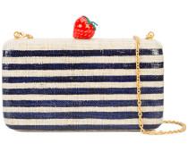 striped strawberry clutch bag