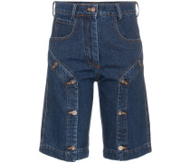Jeans-Shorts mit Knopfdetail