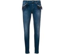 Jeans mit Federn