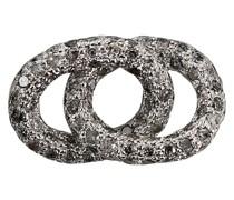 Mit Diamanten besetztes Armbandelement aus Weißgold