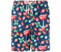 Badeshorts mit Erdbeeren-Print