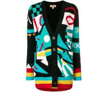 multi-patterned cardigan