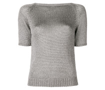 fitted silhouette knitted top
