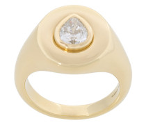 18kt 'Pear Oval' Gelbgold-Siegelring