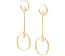 circular drop pendant earrings
