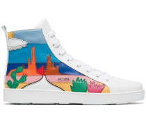 High-Top-Sneakers mit Kaktus-Motiv