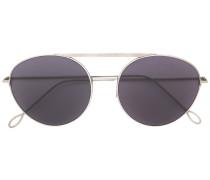 aviator round-frame sunglasses