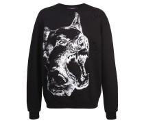Distressed-Sweatshirt mit Hund