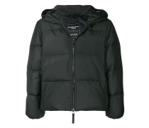 Love hooded puffer jacket