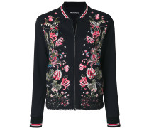 embroidered zipped jacket