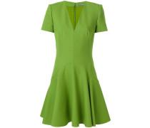 Minikleid aus Wolle mit V-Ausschnitt