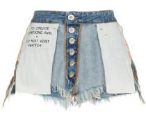 Jeansshorts mit mittelhohem Bund