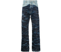 Jeans mit Knitteroptik