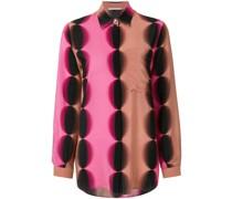 geometric print longline shirt