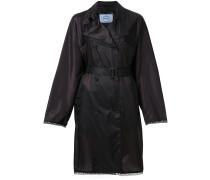 embellished belted trench coat