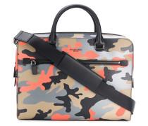Harrison camouflage-print briefcase
