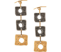 square pendant earrings