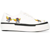 Canvas-Sneakers mit Stickerei