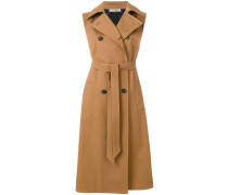 sleeveless belted trench