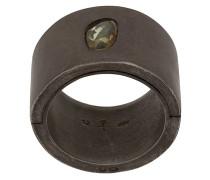 'Sistema' Ring mit grünem Saphir