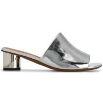 Mules im Metallic-Look