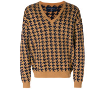 houndstooth knit jumper