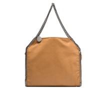 brown Falabella small faux leather tote