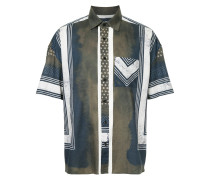 Shibori print short sleeve shirt