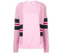 Sweatshirt mit Einsätzen