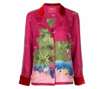 Hemd mit Flamingo-Print