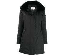 Mantel mit Fuchspelzbesatz