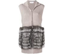 sleeveless knit coat
