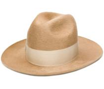 bow embellished hat