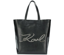 K/Signature Perforated shopper tote
