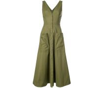 patch pocket back cutout dress