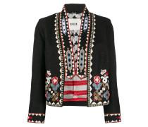Cropped-Jacke mit Perlen