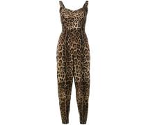 Jumpsuit mit Leoparden-Print