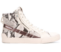High-Top-Sneakers in Schlangenleder-Optik