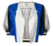colour-block fitted jacket