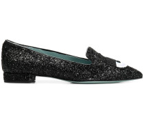 glittered loafers