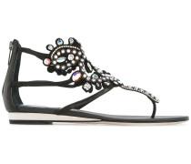 Sandalen mit verziertem Knöchelriemen