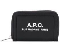 A.P.C. Portemonnaie mit Logo-Print