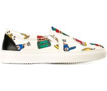 Slip-On-Sneakers mit Print