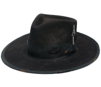 wide brim ribbon trim hat