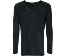 Feingestrickter Pullover mit V-Ausschnitt
