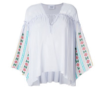 embroidered tunic-style blouse