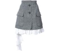 Herringbone poplin skirt