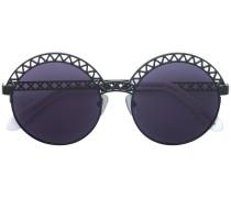 round lattice sunglasses