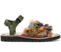 Sandalen im Patchwork-Look
