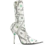 'Knife' Stiefel mit Dollar-Print